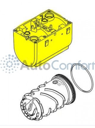Корпус  Hydronic WS/WSC внешняя часть, съёмные штуцеры 252149010101