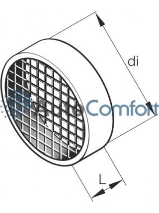 Деталь корпуса, решетка воздуховода Ø60 мм, L 22 251688800600