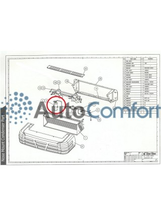 Ресивер-осушитель вертикальный, под фитинг 3/8, G6, №6, Flare. Высота 205мм, D-70мм. Dongin Thermo Hyundai Porter 2 / Kia Bongo