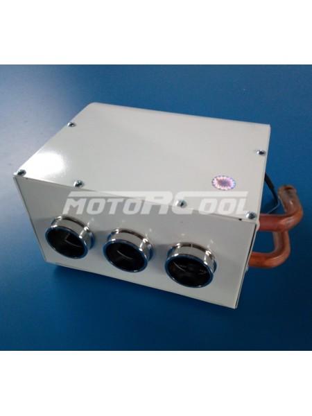 Дополнительный отопитель Motorcool 220*210*112, 12V, медь, 3 дефлектора. RC-U0645
