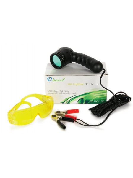 Комплект для обнаружения утечек фреона (лампа УФ 12V + очки защитные) BC-UV-L-50 UV