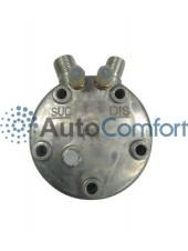 Крышка задняя компрессора 5H11/5H14: тип FG (вертикальные выходы O'Ring HP #8, LP #10) + заправочные порты и клапан