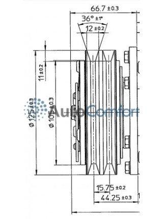 Шкив компрессора 5Н11 A2