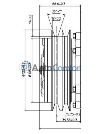 Шкив компрессора 7Н15 A2
