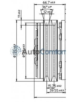 Шкив компрессора 5Н14 А2