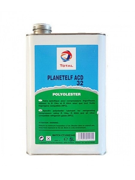 Масло TOTAL PLANETELF ACD 32 5L (5 литров) для компрессоров авторефрижераторов и автокондиционеров