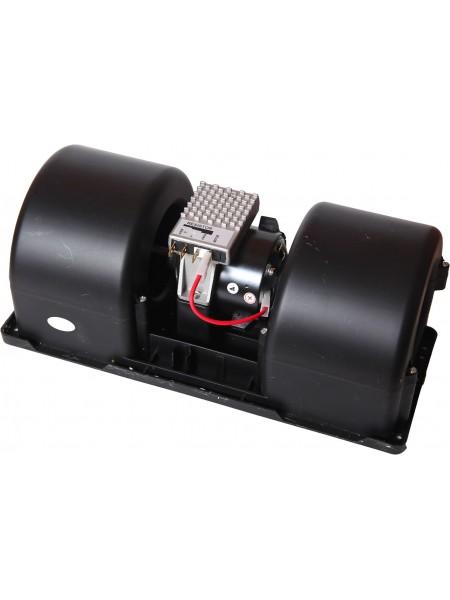 Вентилятор радиальный сдвоенный 351x136 12V 160W (4 скорости)
