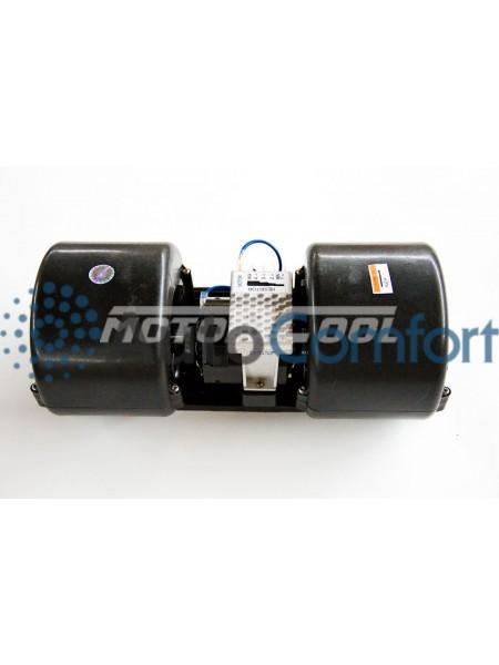 Вентилятор радиальный сдвоенный 351x136 12V 140W (4 скорости)