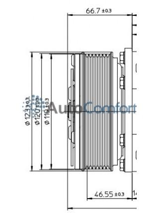 Шкив компрессора 5Н14 PV8