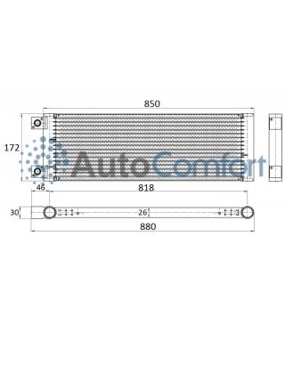 Конденсатор (радиатор) Zanotti  Zero 38S. Артикул:  3CND580, 3CND575 и 3CND514
