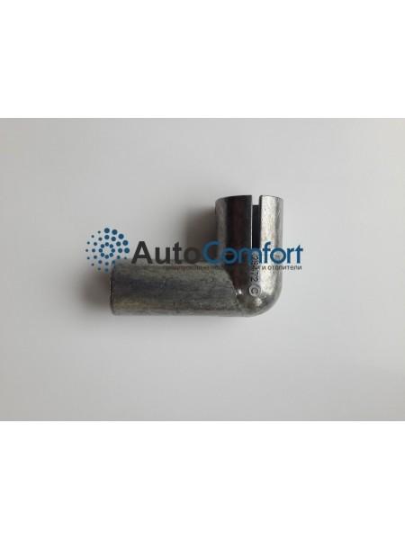 Угловой переходник выхлопной трубы Ø22 металл 28472