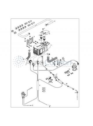 Предпусковой подогреватель Hydronic 3 B4E 12В бензин с базовым мк и Easy Start Timer 293320114101