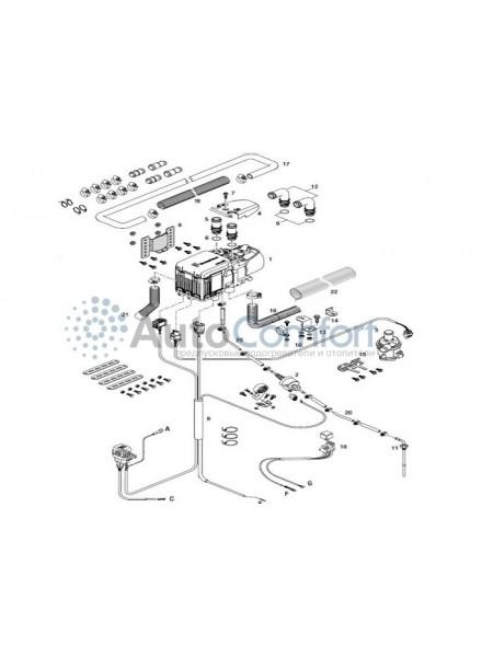 Монтажный комплект Hydronic S3 расширенный с подключением климата 293380000010