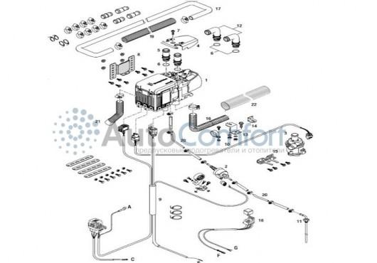 Монтажный комплект Hydronic S3 расширенный с подключением климата 293380000010, 10 050.00 р.