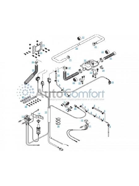 Монтажный комплект для HYDRONIC 3 12 В оригинальный 252652800000