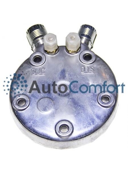 Крышка задняя компрессора 5H11/5H14: тип FG (вертикальные выходы O'Ring HP #8, LP #10) + заправочные порты