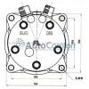 Компрессор SANDEN SD5S11 12V PV8 KG (горизонтальные выходы) 6358