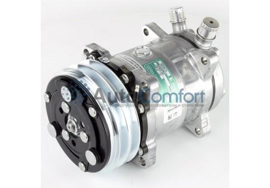 Компрессор Motorcool 5H14, 12V, A2,  FL (вертикальные выходы), аналог Sanden SD5H14 6626 (0807), 8 850.00 р.