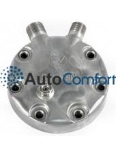 Крышка задняя компрессора 7H15: тип JD (вертикальные выходы O'Ring HP #8, LP #10) + клапан сброса давления